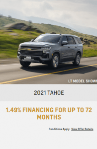 2021 Chevy Tahoe Sunshine Coast GM Special Offers Incentives Sunshine Coast GM BC